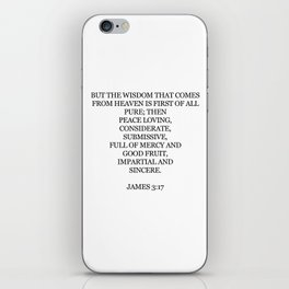 James 3:17 iPhone Skin