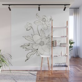 Bunch of spring anemones Wall Mural