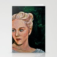 sylvia plath Stationery Cards featuring Sylvia by alison dillon art