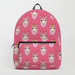 Llamacorn - doodle llama unicorn pattern in pink Backpack
