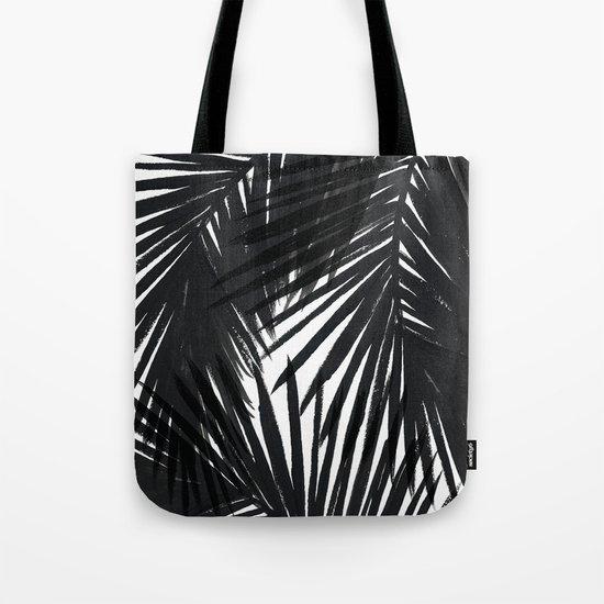 Palms Black Tote Bag