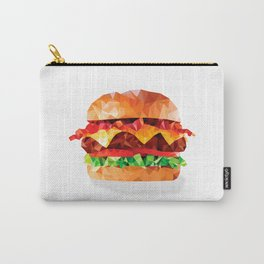 Geometric Bacon Cheeseburger Carry-All Pouch