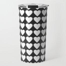 corazones blancos Travel Mug