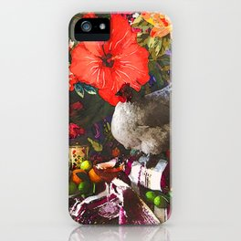 Still Life with Fat Chicken (Watercolor) iPhone Case