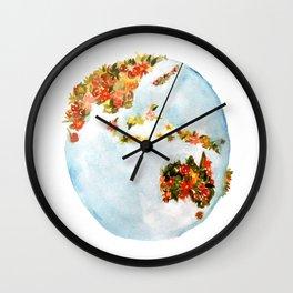 Blooming Earth Wall Clock
