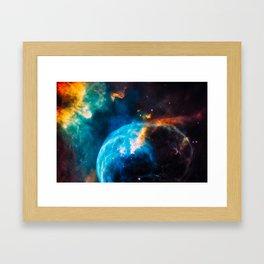 Bubble Nebula, Galaxy Background, Universe Large Print, Space Wall Art Decor, Deep Space Poster Framed Art Print
