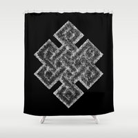 buddhism Shower Curtains featuring Many Paths of One Humanity - 1 of 7 - Buddhism  by ART.KF