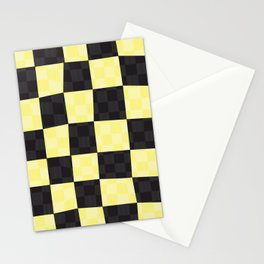 Wax Print Checkerboard - Gold Stationery Cards
