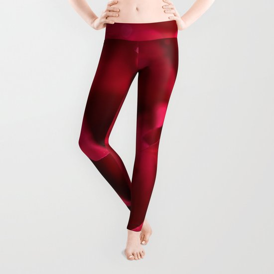Red roses - Red Rose Photography Leggings