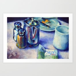 After Breakfast at the Diner Art Print