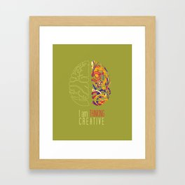 I am thinking Creative Framed Art Print