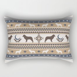Boho dogs | Australian shepherd tan Rectangular Pillow