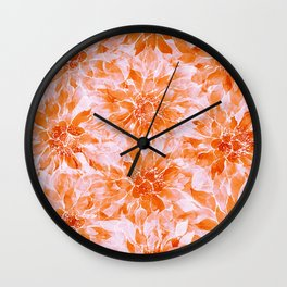 The Smell of Spring 3 / Monochrome / Apricot Wall Clock
