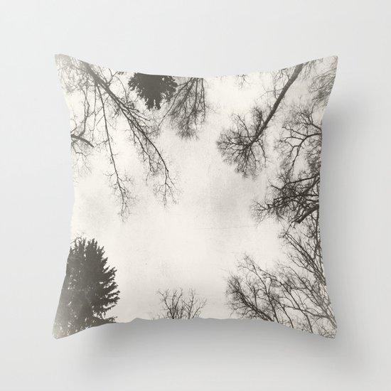 Under January Sky Throw Pillow