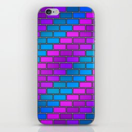 BRICK WALL #2 (Purples, Violets & Turquoises) iPhone Skin