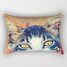 Cat Jacky art #cat #kitty Rectangular Pillow