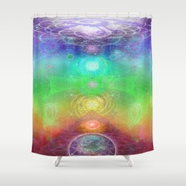 Chakra Activation Geometry Template Shower Curtain