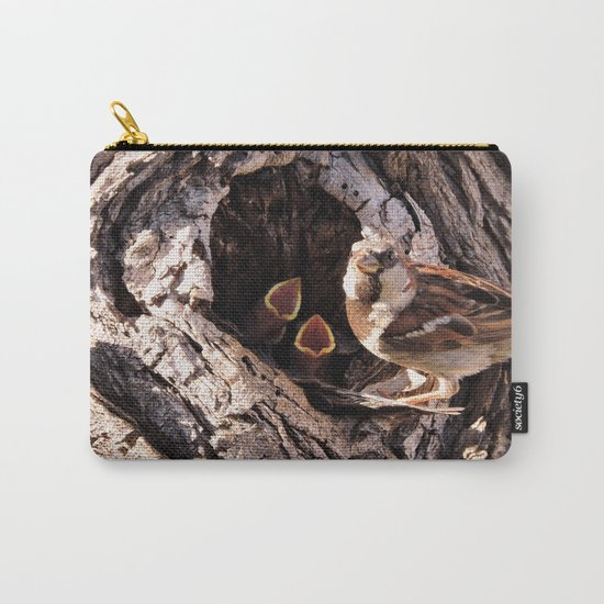 House Sparrow Keeping House Carry-All Pouch