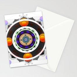 Joy and Delight Sacred Geometry Meditation Mandala Print Stationery Cards