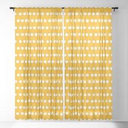 Dots Stripes yellow Sheer Curtain