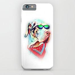 Great Dane Colorful Neon Dog Sunglasses iPhone Case