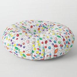 Medical Capsule Pharmacology Design Floor Pillow
