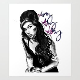 Amy Amy Amy Art Print