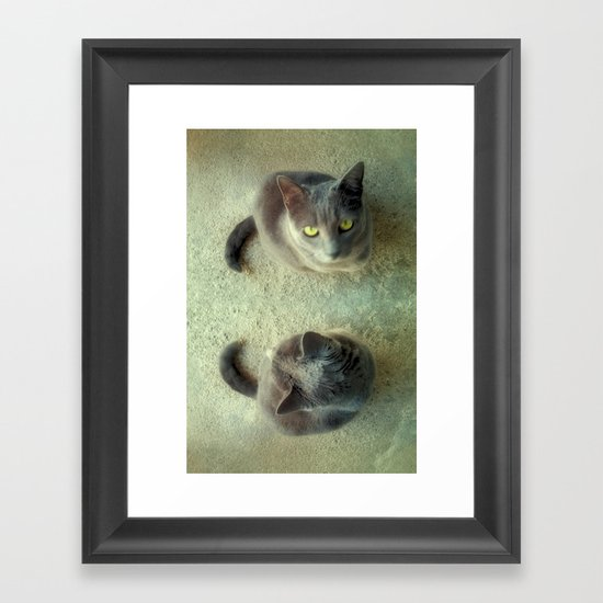 Double Love Framed Art Print