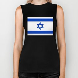 Flag of the State of Israel - High Quality Image Biker Tank