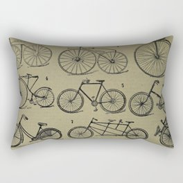 Antique Bicycles Rectangular Pillow