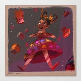 Mexican Alicia in Wonderlandia Canvas Print