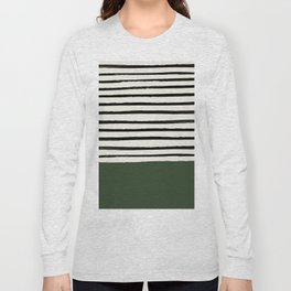 Forest Green x Stripes Long Sleeve T-shirt