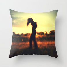 Walker on the Plains Throw Pillow