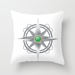 The Four Worlds Series Compass Throw Pillow