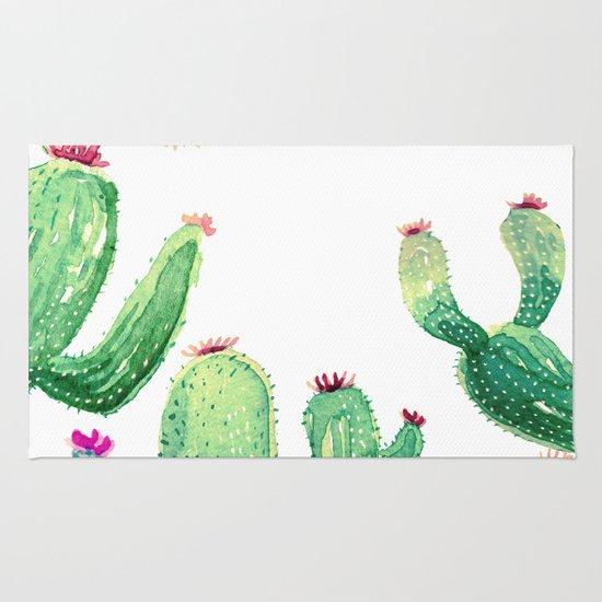 Cactus Comming Rug By Franciscomffonseca Society6