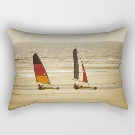 char à voile Nord Rectangular Pillow