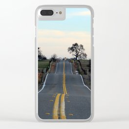The road best traveled Clear iPhone Case