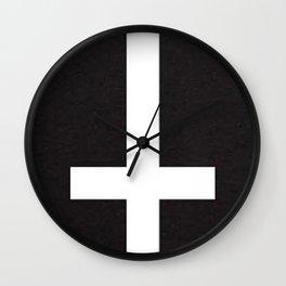 upsidedowncross Wall Clock