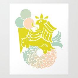 Pop Merlion Art Print