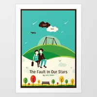 fault in our stars Art Prints featuring The Fault In Our Stars by Risa Rodil