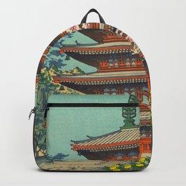 Asano Takeji Spring in Daigoji Temple Vintage Japanese Woodblock Print Detailed East Asian Art Backpack