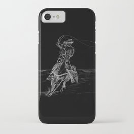 Cowboy Roping iPhone Case