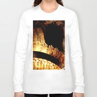 chandelier Long Sleeve T-shirts featuring vintage chandelier by helene smith photography