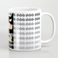superhero Mugs featuring Superhero by Xiao Twins
