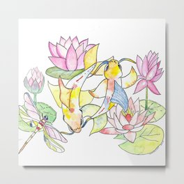 The Power of Koi Metal Print