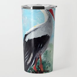 Animal - The beautiful stork - by LiliFlore Travel Mug