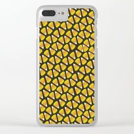 Candy Corn Pattern Clear iPhone Case
