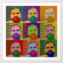 El Chapo Art Print