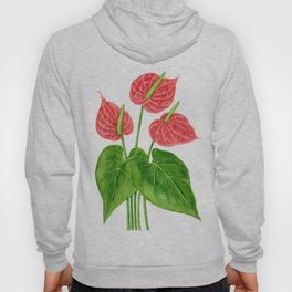 Flamingo flower watercolor Hoody