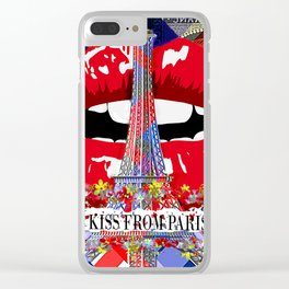 KISS FROM PARIS Clear iPhone Case